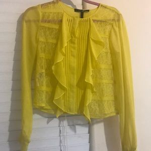 Lace BCGB yellow top